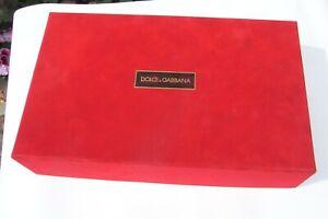 """Dolce & Gabbana Geschenkbox """" Leer Gift Karton Kartonage Verpackung Schachtel"""