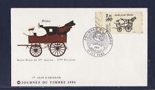 enveloppe 1er jour   journée du timbre    07  Les  Vans      de carnet     1986