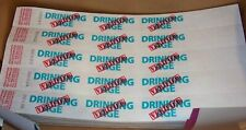 """500 1"""" Tyvek Wristbands BLUE/RED Drinking AGE Verified Bars Events Clubs"""