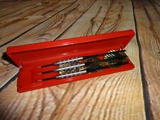 Brass Darts Satin Slims Unicorn Made in England Competition Red Case