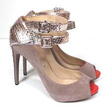 Nicholas Kirkwood metallic python suede heels EU 38 UK 5