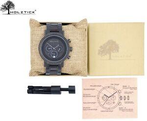 HOLZTICK® - Armbanduhr aus Walnussholz und Edelstahl / Holzuhr Herren