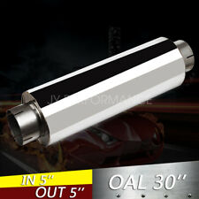 "5"" Stainless Steel Performance Diesel Muffler 24"" Body - 30''OAL Resonator"