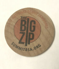 RARE BIG ZIP 2017 National Scout Jamboree Wooden Patch Token Coin