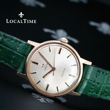 Genuine Leather Strap Round OMEGA Wristwatches