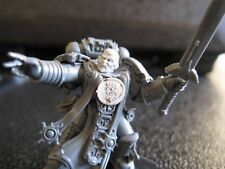 Warhammer 40000 Space Marines Librarian in Power armor conversion.