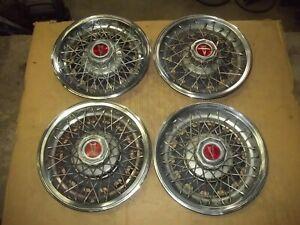 "77-80 Pontiac Grand Prix Le Mans Phoenix Hubcap Wheel Cover Hub Cap 14"" WIRE OEM"
