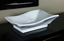 Bathroom White Ceramic Porcelain Vessel Vanity Sink + *FREE Pop Up Drain* 7459