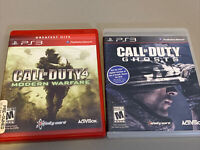 Ps3 Game Lot: Call of Duty: Ghosts, Call Of Duty 4 Modern Warfare, Great Game's!