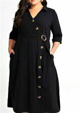Taking Shape Mirage Bamboo Plus M Size Dress - Black