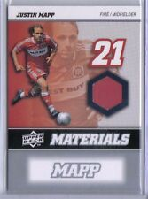 Justin Mapp 2008 08 Upper Deck UD MLS Materials Game Used Jersey #MM-14 Fire