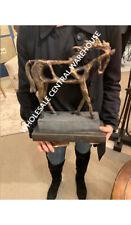 "WESTERN FARMHOUSE TITAN XXL 20"" HORSE STATUE SCULPTURE AGED FINISH UTTERMOST"