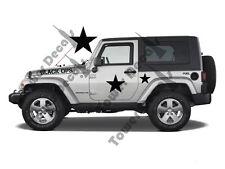 Black OPS Military Decal Kit fits Jeep Wrangler, Rubicon, Cherokee, CJ, XJ