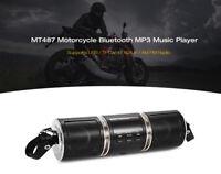 1 audio stereo Bluetooth Altoparlante per moto Musica Radio FM Staffa regolabile