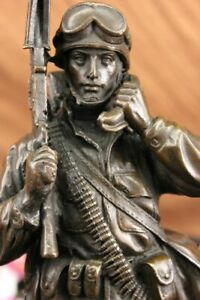 Handmade G.I. Joe Bronze Collection D-Day First Wave Statue Home Office Deco