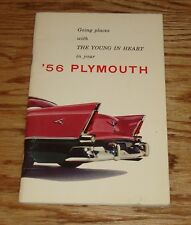 Original 1956 Plymouth Owners Operators Manual 56 Belvedere Fury Savoy Plaza