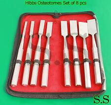 Hibbs Osteotomes Set of 8 pcs Surgical Instruments Str