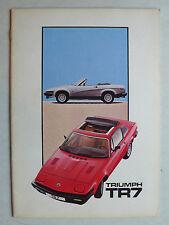 Prospekt Triumph TR 7 Coupe und Cabriolet, 3.1981, 20 Seiten, deutsche Sprache
