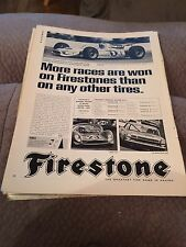 Vintage Magazine Advertisement Firestone Tires 1967 Print Original