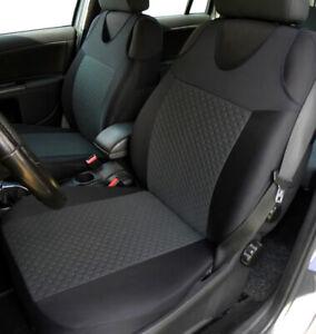 2 Grey Front Vest Car Seat Covers for Chevrolet Citroen Dacia Daihatsu