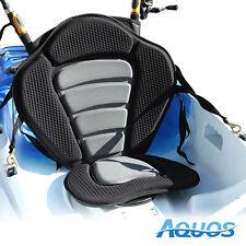 New Deluxe Adjustable Padded Kayak Seat + Detachable Back Bag Fishing Rod Holder