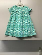 Vertbaudet Green Cotton Dress Age 4 Years