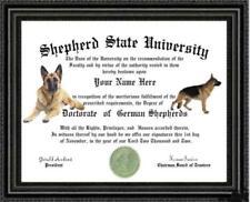 German Shepherd Dog Lover's Diploma / Degree Custom made and Designed For You