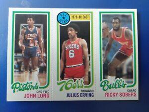 1980-81 Topps Julius Erving #1/Long #88/Sobers #49- NM