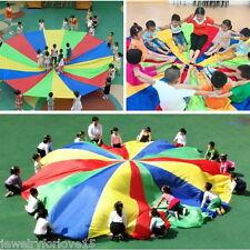 2M Kinder Garten Bunt Schirm Schwungtuch Fallschirm Schwungtücher Spielzeug PD