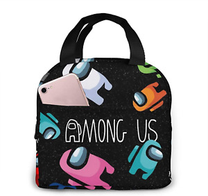 Among Us Lunch Box Insulated Portable Lunch Bag for Kids Teens NEW