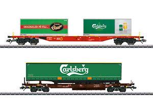 "MÄRKLIN 47109 KLV-Güterwagenset ""Carlsberg und Tuborg"" 2-teilig  #NEU in OVP#"