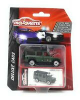 Majorette Model Car metal Deluxe Cars Land Rover Defender green 1/60