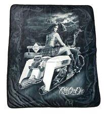 DGA Ride or Die Day of the Dead Polar Fleece Soft Plush Throw Blanket Dead End