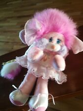 "Vintage Popples Mattel 12"" 1987 Pink Costume Ballerina Ballet Plush Stuffed Toy"