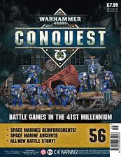 Warhammer Conquest 40K  Issue 56 with 5 Intercessors, 2 Lieutenants & 1 Ancient
