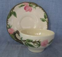 FRANCISCAN DESERT ROSE POTTERY TEA COFFEE CUP AND SAUCER