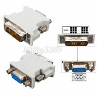 DVI-D (18+1Pin ) Dual Link Male to VGA 15 Pin Female Plug Adapter for PC  AU AU