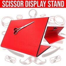 Barber Academy MAGNETIC Scissor Display Board Stand Holder Case Unit (Red)