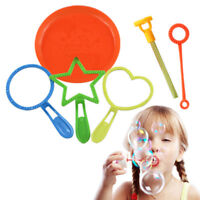 6Pcs/set Portable Bubble Wand Tool Bubble Make Outdoor Fun Toy Kid Children Gift