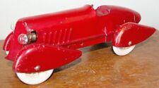 "Vintage Wyandotte Pressed Steel  Boat tail Speedster car All Original  8 3/4"""