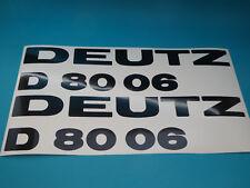 Deutz D 8006 Aufkleber Logo Sticker Schriftzug Emblem 330x85mm 1 Satz Schwarz