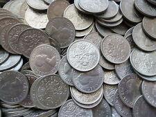 1967 SIX PENCE pièces un lot de cinq six pence pièces en extrêmement FINE état