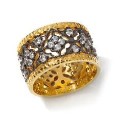 Rarities Carol Brodie White Zircon Black Rhodium-Vermeil Band Ring Size 6 Hsn