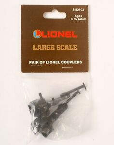NEW Lionel 8-82103 Large Scale G Gauge Pair of KNUCKLE COUPLERS (2-Pack) LGB