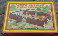 Original 1967 MARX Fort Apache Play Set METAL CARRY-ALL CASE