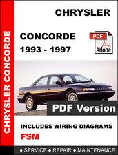 CHRYSLER CONCORDE 1993 1994 1995 1996 1997 SERVICE REPAIR WORKSHOP MANUAL