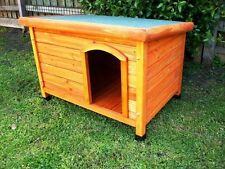 DOG KENNEL Wooden Asphalt Flat Roof Dog Pet House LARGE X LARGE Cabin
