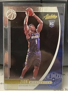 2019-20 Panini Absolute Memorabilia #16 Zion Williamson Rookie Pelicans-2