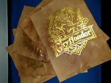 Harry Potter House Crests x 5 Gold Leaf. Harry Potter prop