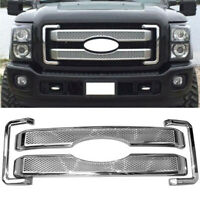 DIAMOND MESH BUMPER OVERLAY GRILLE/GRILL KIT FOR 11-16 FORD F250-350 SUPER DUTY